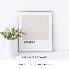 Gardenia Color Art Print Printable Pantone Wall Art Soft   Etsy Pantone, Printable Art, Printables, Fox Print, Color Art, Decoration, Palette, Messages, Art Prints