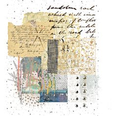 whisper #collage #art This is just so pretty.  I am pinning it to inspire me.