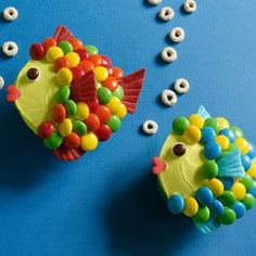 Rainbow trout cupcakes, how cute!