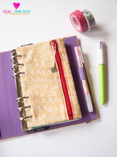 Filofax Personal Zippered Pencil Purse - I'll have to try making one!