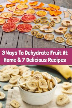 3 Ways To Dehydrate Fruit At Home & 7 Delicious Recipes - Rural Sprout Apple Recipes, Raw Food Recipes, Snack Recipes, Dessert Recipes, Desserts, Dehydrated Apples, Dehydrated Food, Dehydrated Banana Chips, Dehydrated Vegetables
