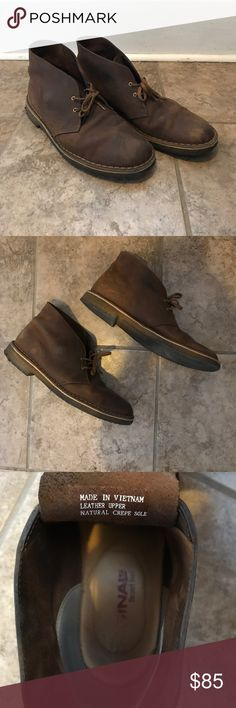 Clark's Desert boot (Brown) Worn maybe 10x. I'm great condition! Clarks Shoes Boots