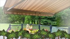 Sunset Shade - Outdoor Living Expert Backyard Door, Backyard Fences, Backyard Landscaping, Backyard Ideas, Backyard Designs, Shade Canopy, Canopy Tent, Porch Railing Kits, Gazebo Replacement Canopy
