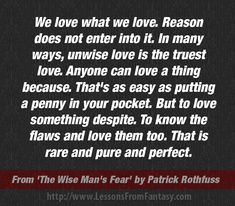 """The Wise Man's Fear"" by Patrick Rothfuss (Kingkiller Chronicle fan? Visit www.facebook.com/eoliantavern)"