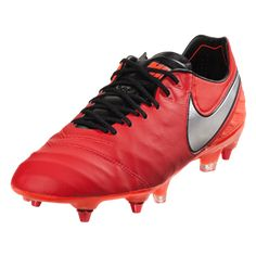 premium selection 1e314 95daf Nike Tiempo Legend 6 SG Soft Ground Soccer Cleat -Pro Lt Crimson Metallic  Silver Total Crimson Black