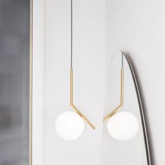 Buy online Ic lights By flos, brass pendant lamp design Michael Anastassiades, home collection - pendant Collection Interior Lighting, Modern Lighting, Pendant Lamp, Pendant Lighting, Brass Pendant, Light Pendant, Cadeau Design, Suspended Lighting, Modern Ceiling