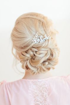 elegant wedding updo hair
