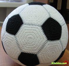 Как связать футбольный мяч (или обычный, простой мяч) спицами или крючком?