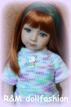 "R M Dollfashion Pastel Line Handknit Set for Effner Maru and Friends 20"" Dolls | eBay"