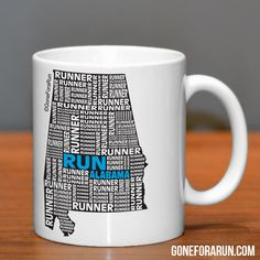 State Runner Collection Mugs. Exclusively from GoneForaRun.com #running #runner