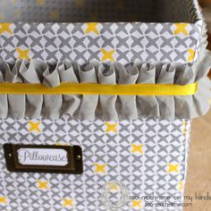 Upcycled Diaper Box Organizational Crate from Too Much Time on My Hands 120 copy