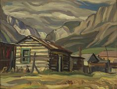 """Canmore, Alberta,"" Alexander Young (A. oil on panel, 10 x 13 private collection. Emily Carr, Canadian Painters, Canadian Artists, Jackson, Group Of Seven Paintings, Tom Thomson Paintings, Capital Of Canada, Most Famous Artists, Of Montreal"