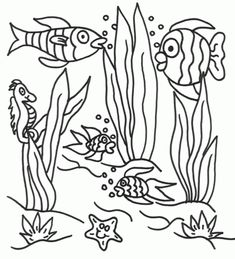 l under the sea colouring pages