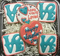 LOVE Decorated Valentine Sugar Cookies by I AM the Cookie Lady