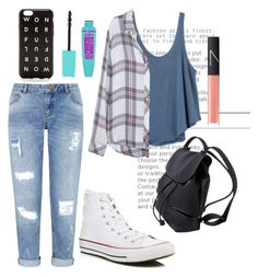 """""""Tuesday Blues"""" by peacefreak27 ❤ liked on Polyvore featuring RVCA, Rails, Miss Selfridge, Converse, NARS Cosmetics and J.Crew"""