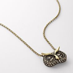 Mini Glam Owl Necklace ($36) found on Polyvore