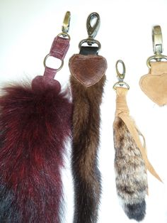 Leather Waves fur keychains. #fashion #fur #keychains