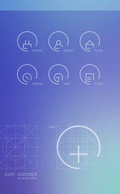 icon concept for aura soma
