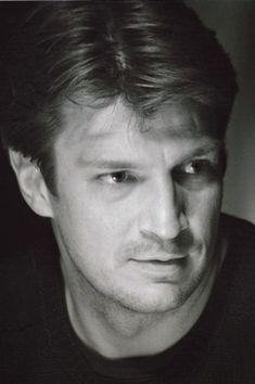Great  black   white photo of Nathan Fillion