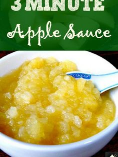 3 minute Apple Sauce. Easy method and no additives etc. Great as a topping on plain yogurt, or as a sauce for a main meal, use in baking etc!