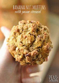 Fluffy Banana Pecan #Muffins