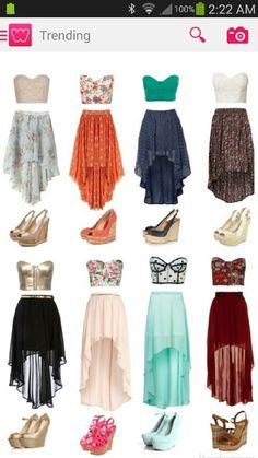 Skirt combos