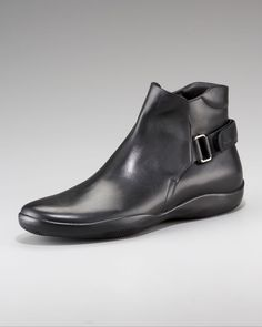 Prada Pull-On Boot with Strap.