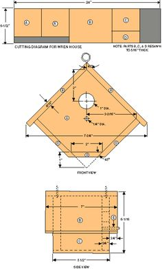 Bird House Plans 729301733390503674 - If you are a DIY woodworking enthusiast or are a bird lover and are looking to build a nice birdhouse to attract birds in your backyard, then you have Source by Bird House Plans Free, Bird House Kits, Bird House Feeder, Bird Feeders, Bird Feeder Plans, Squirrel Feeder, Wren House, Woodworking Enthusiasts, Bois Diy