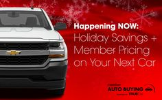 Holiday Savings + Member Pricing on Your Next Car  Link: https://us12.campaign-archive.com/?u=4601f99f91fd48543a4b1d7c6&id=4295087707