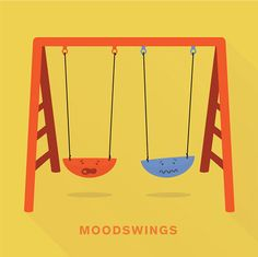 'Moodswings' from Punny Pixels, an illustrated series of visual puns. Puns Jokes, Funny Puns, Funny Quotes, Funny Stuff, Grammar Jokes, Random Stuff, Funny Food, Girly Quotes, Romantic Quotes
