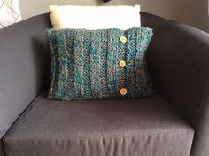 Petit coussin tricot
