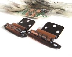 New to LaurasLastDitch on Etsy: Amerock Hinges Antique Copper Cabinet Hardware 1960s Atomic Mid Century Modern Semi Concealed (9.99 USD)