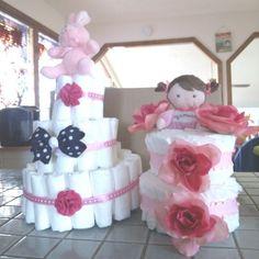 Diaper Cake Ideas for girls