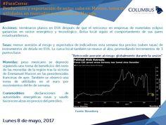Columbus (@ColumbusDM) | Twitter | #ParaCerrar #Mercados #Columbus  Producción y exportación de autos sube en México, toma de utilidades en mercados por triunfo de Macron.