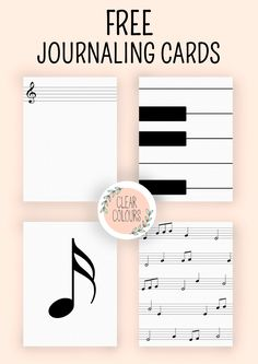 Free Music Journaling Cards from Clear Colours