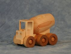 Wood Toy Cement Truck by JoliLimited on Etsy