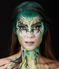 "Enchanted Forest - This creation by Claudia Kraemer won the ""World Award"" at the festival.(WB Production/World Bodypainting Festival)"