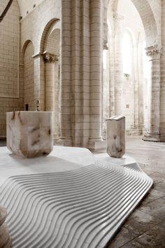 St Hilaire church by Mathieu Lehanneur in Melle, France