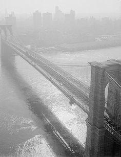 Brooklyn Bridge, 1982 - JB is at Williamsburg just over the Brooklyn Bridge....