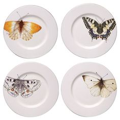 Marjolein Bastin Set of Stoneware Butterfly Plate - Cream #NaturesJourney