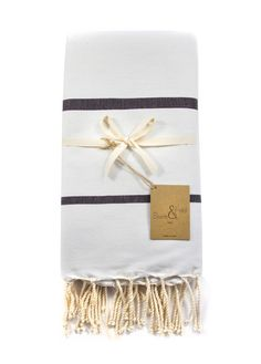 Scents & Feel White + Black Striped Fouta via Establishment Home