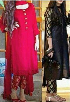 Cigarette pants ❤ Pakistani Dress Design, Pakistani Dresses, Indian Dresses, Indian Outfits, Kurta Designs, Blouse Designs, Indian Designer Outfits, Designer Dresses, Casual Dresses