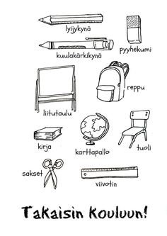It's time to head back to school! Have your bilingual kids practice Spanish vocabulary with this free printable of school supplies in Spanish. Spanish Worksheets, Spanish Vocabulary, Spanish Activities, Teaching Spanish, Kindergarten Worksheets, Vocabulary Worksheets, Teaching French, School Supplies In Spanish, School Supplies Tumblr