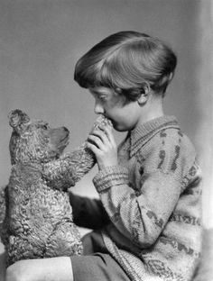 The real Winnie the Pooh and Christopher Robin, ca. 1927.  jj