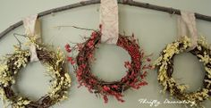 Thrifty Decorating: A wreath and a stick....