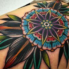 Mandala tattoo by Kirk Jones Kirk Jones, Body Is A Temple, Mandala Tattoo, Cool Tattoos, Body Art, Piercings, Good Things, Photo And Video, Instagram