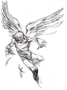 Icarus tattoo idea maybe with bastille quotes or mythological quote or his name in greek Tattoo Sketches, Tattoo Drawings, Drawing Sketches, Art Drawings, Icarus Tattoo, Tattoo Studio, Tatouage Sublime, Angel Drawing, Angel Sketch