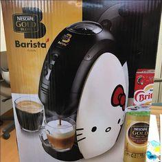 Release! Nescafe Gold Blend Barista Hello Kitty Limited Model Coffee Maker