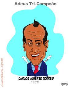 """Charge do Galo: Morreu Hoje Carlos Alberto Torres, o """"Capita"""" Uma ..."""