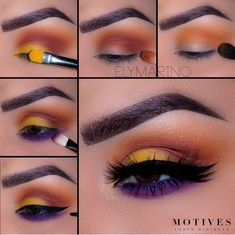 Valentine's day Makeup Tips & Tricks which are Glitzy and Glamorous Valentine's day Makeup tips are here From Smokey Eyes with red lips to Berry red lips to Pink LIps to Ombre lips to unique eyeshadow combinations are here – eye-makeup Makeup Eye Looks, Eye Makeup Steps, Love Makeup, Makeup Inspo, Makeup Inspiration, Purple Makeup, Makeup Ideas, Yellow Eye Makeup, Uk Makeup